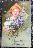 Meisje - Fillette - Reliëfkaart - Verzonden 1904 - Portraits