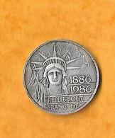 PIECE 100 FRANCS ARGENT CENTENAIRE  STATUE DE LA LIBERTE 1986 - N. 100 Francs