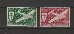 Martinique 1945 Série Londres PA 4-5 2 Val ** MNH - Aéreo