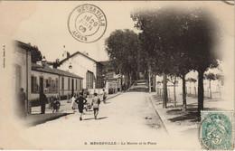 CPA AK MENERVILLE La Mairie Et La Place ALGERIE (1146227) - Other Cities