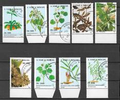 Saint Thomas 1996 - SAO TOMÉ E PRINCIPE - Série Complète MI 1694/1702 Plantes Médicinales Et Orchidées  (o) TB. - Heilpflanzen