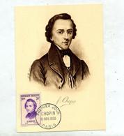 Carte Maximum 1956 Paris Chopin - 1950-59