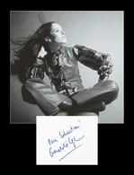 Geraldine Chaplin - Actrice Britannique - Carte Dédicacée En 2002 + Photo - Autógrafos