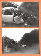 LOT DE 2 PHOTOS 28 JUILLET 1982 LA FERTÉ SAINT AUBIN LOIRET - ACCIDENT DE VOITURE RENAULT 16 - R16 R 16 - Automobiles
