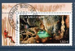 France 2021.issu De La Mini Feuille Spéléologie..Cachet Rond Gomme D'origine. - Used Stamps