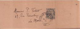 FRANCE : ENTIER POSTAL .  1 Cts . TYPE BLANC . BANDE . AVEC LETTRE DE CONTROLE S . 1930/32 . OBL . - Striscie Per Giornali