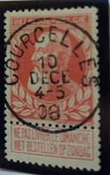Belgique  Oblitération Courcelles  Sur COB N°74 - 1905 Breiter Bart