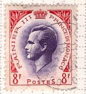 PIA - MONACO - 1955-57 - Principe Ranieri III - (Yv 422) - Used Stamps
