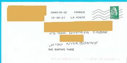 NOUVEAU Marque De Tri Rappel Numéro Et Nom De Rue Imprimé Par La Poste Marianne L'engagée Toshiba - Mechanische Stempels (varia)