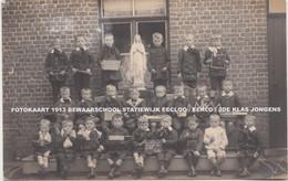 FOTOKAART 1913 BEWAARSCHOOL STATIEWIJK EECLOO / EEKLO / 2DE KLAS JONGENS - Eeklo