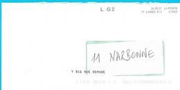 NOUVEAU Marque De Tri Rappel Numéro Et Nom De Rue Imprimé Par La Poste LG2 77 Lognes PIC - Mechanische Stempels (varia)