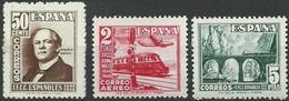 ESPAÑA 1948  EDIFIL 1037 A 1039  **  MNH CENTENARIO DEL FERROCARRIL - 1931-50 Ungebraucht