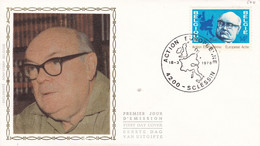 FDC 1977 Soie Action Européenne   Sclessin  18.03.78 - 1971-80