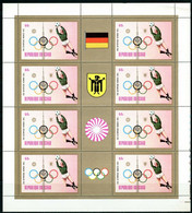 CHAD   Olympics Olympic Games  Munich  1972  6 Sheetlets  Perf. Rare! - Verano 1972: Munich