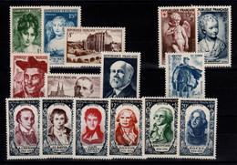 Année Complète 1950 N** Luxe , YV 863 à 877 , Cote 110 Euros - 1950-1959
