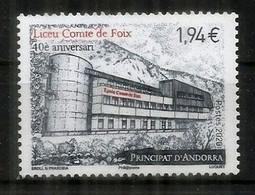 """Lycée Français """"Comte De Foix"""" Andorra. 40 Ième Anniversaire. Un Timbre Neuf ** Année 2020 - Ongebruikt"""
