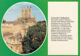 Postcard Lincoln Cathedral [ Text View ] My Ref B24937MD - Lincoln
