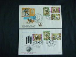 """BELG.1963 1243-1245 2 X Dif. FDC (Brux-Brus) : """" Campagne Tegen De Honger-campagne Contre La Faim """" - 1961-70"""