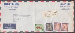 1970. SAUDI ARABIA. Interesting Registered AIR MAIL Cover To USA From DAMMAM. Frankin... (Michel 454+) - JF423499 - Arabie Saoudite