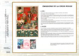 REUNION DOCUMENT FDC 1974 CROIX ROUGE - Cartas