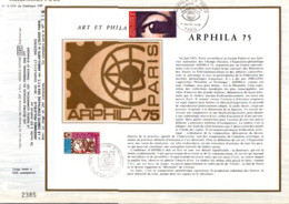 REUNION DOCUMENT FDC 1974 ARPHILA 75 - Covers & Documents