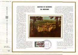 REUNION DOCUMENT FDC 1973 CHATEAU DE BAZOCHES EN MORVAN - Cartas