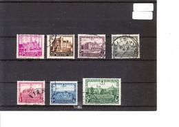 308/14 Antituberculeux - Les Châteaux COB €60 - Used Stamps