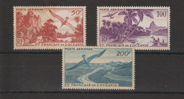 Océanie 1948 Série Vues PA  26-28, 3 Val ** MNH Mais Gomme Jaunatre - Posta Aerea