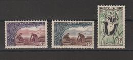 Togo 1954-55 Divers 256-258 3 Val ** MNH - Nuevos