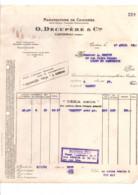 FACTURE + TRAITE O. DECUPERE & Cie MANUFACTURE DE CHICOREE à CAMBRAI 1935 - 1950 - ...