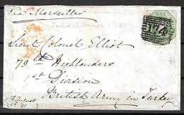 Grande-Bretagne Belle Lettre Entière De 1854. Affranchie Avec YT N° 7. A Saisir! - Brieven En Documenten