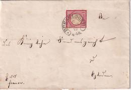ALLEMAGNE 1873 LETTRE DE DÜSSELDORF - Briefe U. Dokumente
