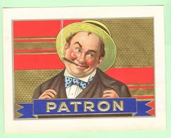 R - Etiquette, Chromo Gaufrée -  Tabac, Boîte à Cigares - Cigare PATRON - Etichette