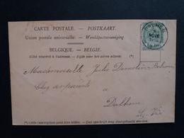 """Belgique  Oblitération Dalhem Sur CP Vue Blegny-trembleur """" Ecole Et Pensionnat Des Filles De St Joseph """" - AK [1871-09]"""