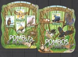 ST2323 2015 MOZAMBIQUE MOCAMBIQUE FAUNA BIRDS PIGEONS POMBOS KB+BL MNH - Columbiformes