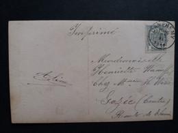 """Belgique  Oblitération Dampremy Sur CP Fantaisie """" Vive Ste Catherine """" - AK [1871-09]"""