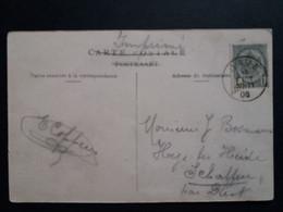 """Belgique  Oblitération Dave Sur CP Vue """" Le Chateau """" - AK [1871-09]"""