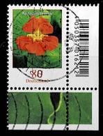 Bund 2019,Michel# 3469 O Blumen: Kapuzinerkresse, Eckrand - Gebruikt