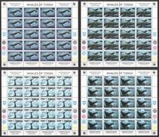 Tonga 1996 Kleinbogen Set Mi 1400-1403 MNH - WWF WHALES OF TONGA - Michel Value € 440 @15% - Nuevos