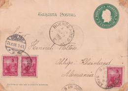 ARGENTINE 1900  ENTIER POSTAL/GANZSACHE/POSTAL STATIONERY LETTRE DE BUENOS AIRES - Postal Stationery