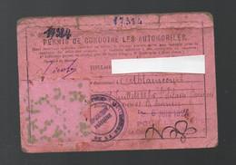 Ablaincourt (80 Somme) Permis De Conduire 1924 (sans La Photo) (avec Timbe Fiscal ) (PPP30534) - Fiscale Zegels
