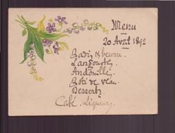 Menu Du 20 Avril 1892 - Menus