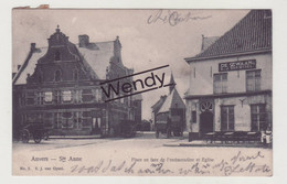 Antwerpen (café De Zwaan - Place En Face De L'embarcadère 1908) - Antwerpen