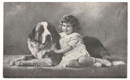 CPA-Carte Postale-Pays Bas- Fantaisie Une Fillette Et Son Grand Chien 1919VM35048 - Escenas & Paisajes