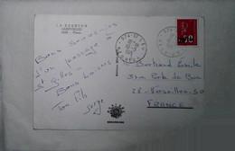 H 4 Lettre / Document/ Repiquage/carte Maximum   / Cp Tp Cfa - Covers & Documents