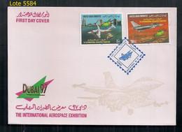 ÉMIRATS ARABES UNIS 1997 Spectacle Aérien Le Premier Jour D'émission - United Arab Emirates (General)