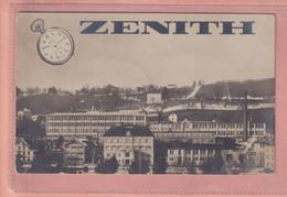 OLD PHOTO POSTCARD - SWITZERLAND - LE LOCLE - ADVERTISING WATCHES - ZENITH  1912 - Werbepostkarten