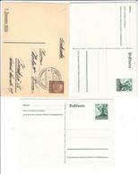 Drittes Reich , 4 Ganzsachen - Brieven En Documenten