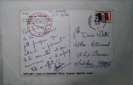 H 4 Lettre / Document/ Repiquage/carte Maximum   /en Fm Régiment Au Tchad - Cachets Militaires A Partir De 1900 (hors Guerres)