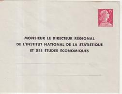 "FRANCE : ENTIER POSTAL . 15 F . TYPE MULLER . EP TSC . "" INSTITUT DE LA STATISTISQUE "" . 1955 . - Standard- Und TSC-Briefe (vor 1995)"